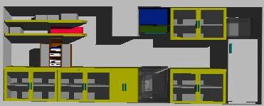 Planos de 3d modulo cocina, en Cocinas – Muebles equipamiento