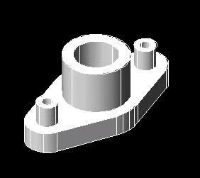 imagen 3d pieza mecanica, en Válvulas tubos y piezas - Máquinas instalaciones