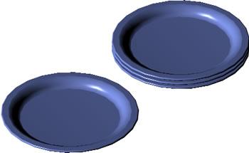 Planos de 3d-platos, en Vajilla – Muebles equipamiento