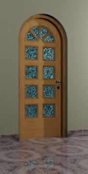 imagen 3d puerta 0.90x2.10 tipo  -, en Puertas 3d - Aberturas