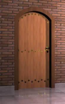 imagen 3d puerta 1.00x2.10 mts, en Puertas 3d - Aberturas