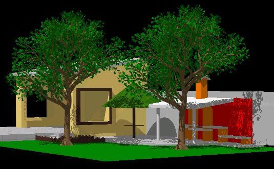imagen 3d quincho asador, en Quinchos - churrasquerías - cocinas alternativas - Parques paseos y jardines