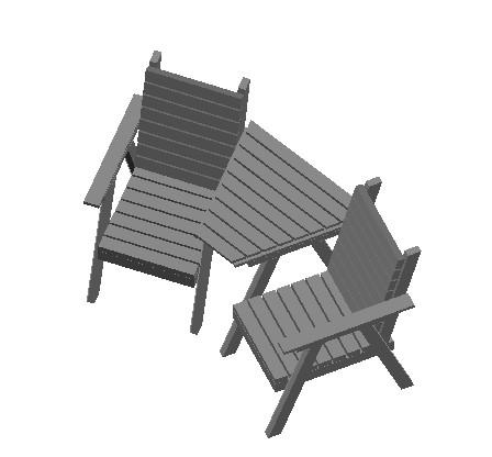 Planos de 3d sillas de jardin  compañeras, en Sillas 3d – Muebles equipamiento