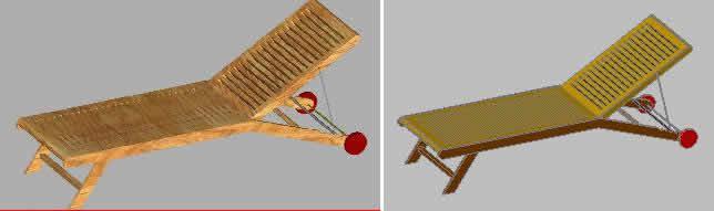 Planos de 3d tumbona piscina, en Accesorios – Piscinas y natatorios