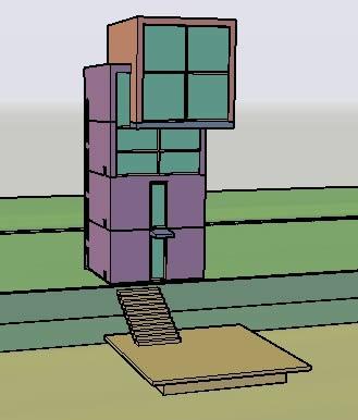 imagen 4x4vivienda - tadao ando, en Obras famosas - Proyectos