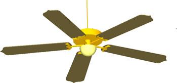 Planos de Abanico de techo – ventilador de techo 3d, en Electrodomésticos – Muebles equipamiento