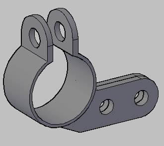 Planos de Abrazadera 3d, en Válvulas tubos y piezas – Máquinas instalaciones