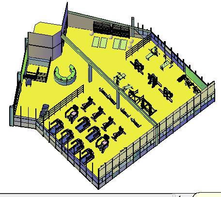 imagen Academia em 3d, en Proyectos gimnasios - Deportes y recreación