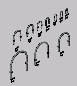Planos de Accesorios de cañeria u-bolt 3d, en Válvulas tubos y piezas – Máquinas instalaciones