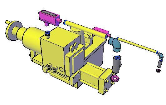 Planos de Actuador electromecanico para valvulas 3d, en Provisión de gas – Instalaciones