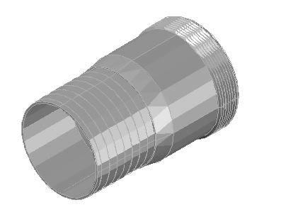 Planos de Adaptador galvanizado rosca macho 3, en Tubos y elementos de pvc – ppn – fofo – etc – Sanitarios