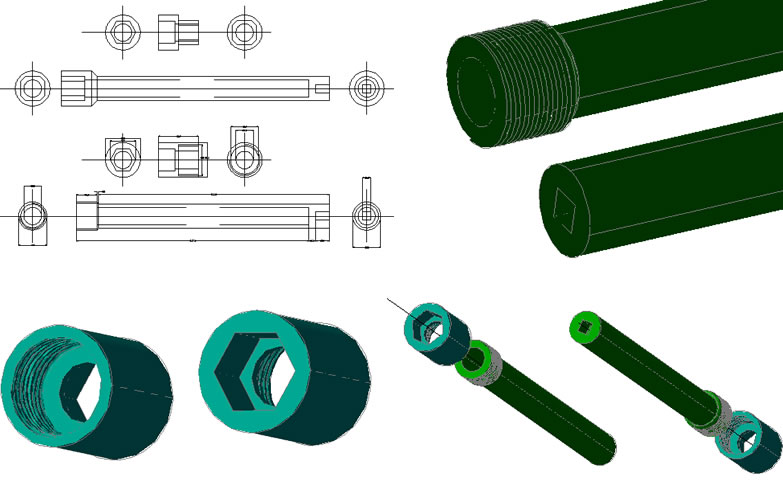 Planos de Adaptador roscadora neumatica, en Herramientas – Obradores