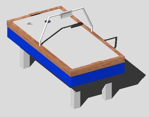 Planos de Aero hockey 3d, en Juegos – Muebles equipamiento