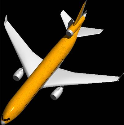 imagen Aeronave 3d, en Aeronaves en 3d - Medios de transporte