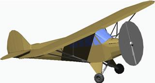 Planos de Aeroplano  de un motor, en Aeronaves en 3d – Medios de transporte