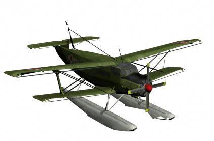 Aeroplano en 3ds con texturas, en Aeronaves en 3d – Medios de transporte