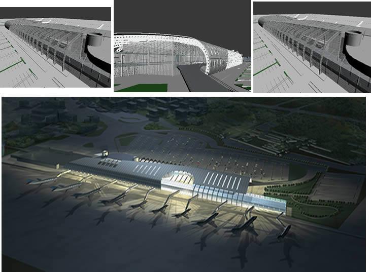 imagen Aeropuerto 3d, en Aeropuertos - Proyectos