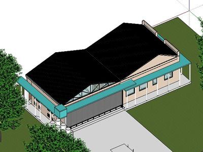 Agencia ambiental de la municipalidad de la plata 3d, en Arq. bioclimática – Proyectos