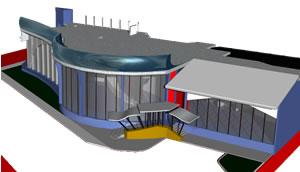 Planos de Agencia automotriz en 3d, en Centros comerciales supermercados y tiendas – Proyectos