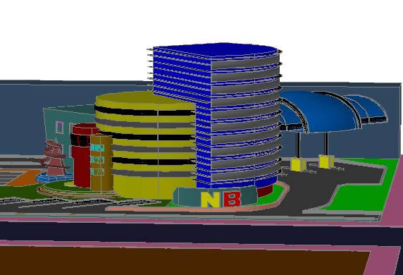 Planos de Agencia de banco con autobanco, en Proyectos varios – Proyectos