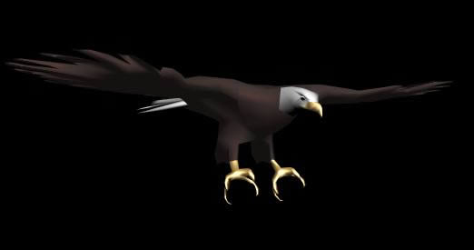 Aguila americana 3d, en Animales 3d – Animales
