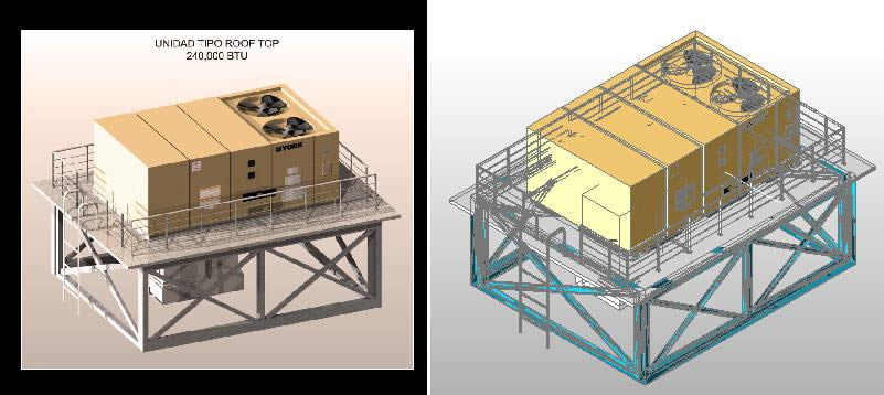 imagen Aire acondicionado roof top 3d, en Aire acondicionado - Climatización