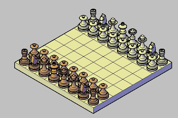 Planos de Ajedrez de mesa 3d, en Juegos – Muebles equipamiento