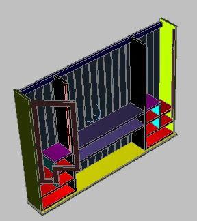 Planos de Alacena 3d, en Estanterías y modulares – Muebles equipamiento