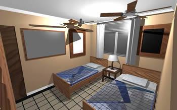 Planos de Alcoba sencilla, en Salas de estar y tv – Muebles equipamiento