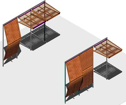 Planos de Alero de proteccion solar retractil de un proyecto para vivienda bioclimatica, en Parasoles celosías y toldos – Aberturas