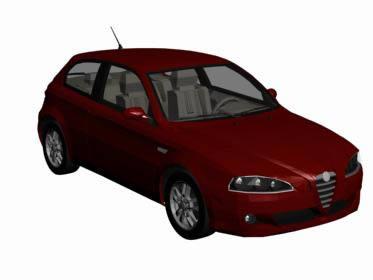 Alfa 147 – 3d, en Automóviles en 3d – Medios de transporte