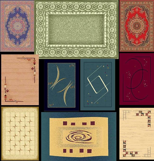 Alfombras / tapetes persas en planta, en Pisos varios – Texturas