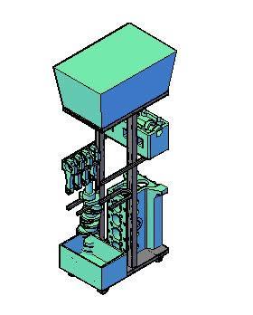 Planos de Almacenaje de partes de motor, en Maquinaria e instalaciones industriales – Máquinas instalaciones