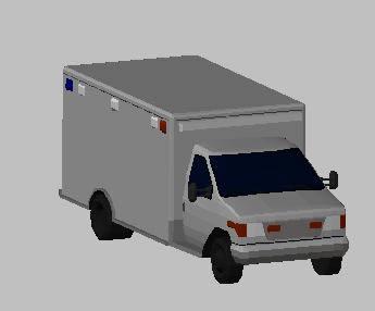 imagen Ambulancia 3d, en Automóviles en 3d - Medios de transporte