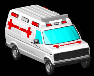Planos de Ambulancia 3d, en Utilitarios – Medios de transporte