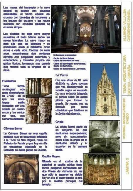 Planos de Analisis catedral de oviedo, en Monografías – Historia