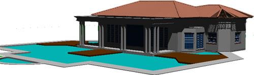 Planos de Anexo de piscina, en Quinchos – churrasquerías – cocinas alternativas – Parques paseos y jardines