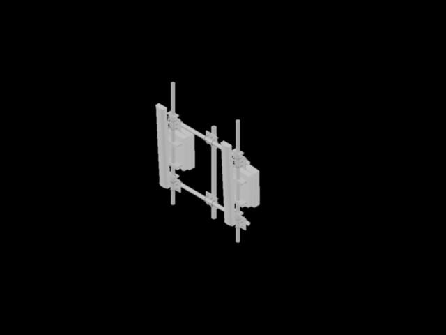 imagen Antenas rf con rru sobre soportes, en Telecomunicaciones - Infraestructura