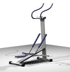 Planos de Aparato caminador 3d, en Equipamiento gimnasios – Deportes y recreación