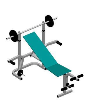 imagen Aparato de gym; gimnasio 3d, en Equipamiento gimnasios - Deportes y recreación