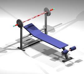 Planos de Aparato de pesas 3d, en Equipamiento gimnasios – Deportes y recreación