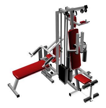 Aparato gimnasia 3d, en Equipamiento gimnasios – Deportes y recreación