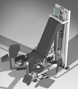 imagen Aparato mixto para gimnasio - con materiales aplicados, en Equipamiento gimnasios - Deportes y recreación
