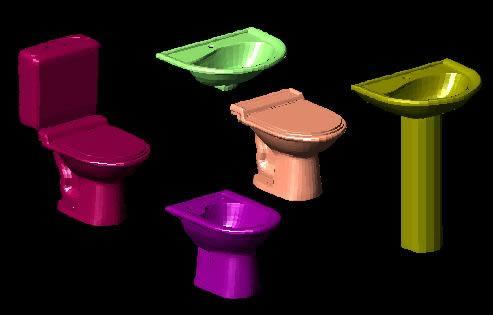imagen Aparatos sanitarios  3d, en Juegos de baño ideal standard 3d - Sanitarios