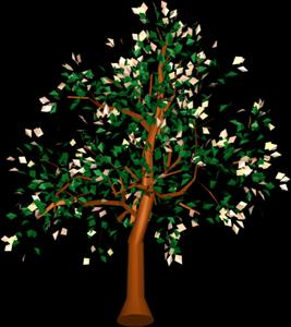 imagen Arbol en 3d 013, en Arboles en 3d - Arboles y plantas