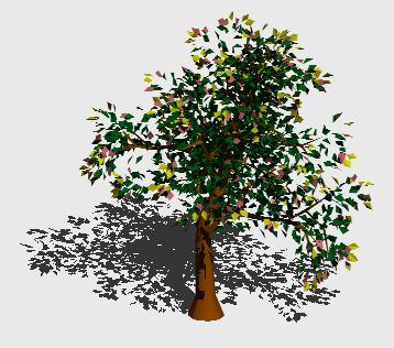 imagen Arbol en 3d 014, en Arboles en 3d - Arboles y plantas