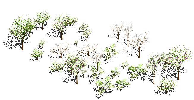 Planos de Arboles 3d, en Plantas de interior 3d – Arboles y plantas