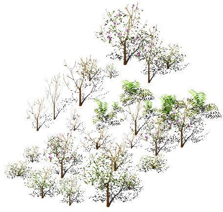 imagen Arboles varios 3d, en Arboles en 3d - Arboles y plantas