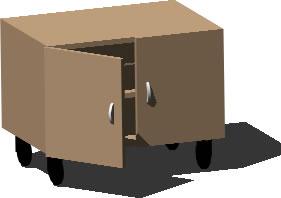 Planos de Archivero 3d con ruedas, en Oficinas y laboratorios – Muebles equipamiento