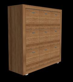 Archivo para carpetas colgantes de madera 3d, en Oficinas y laboratorios – Muebles equipamiento
